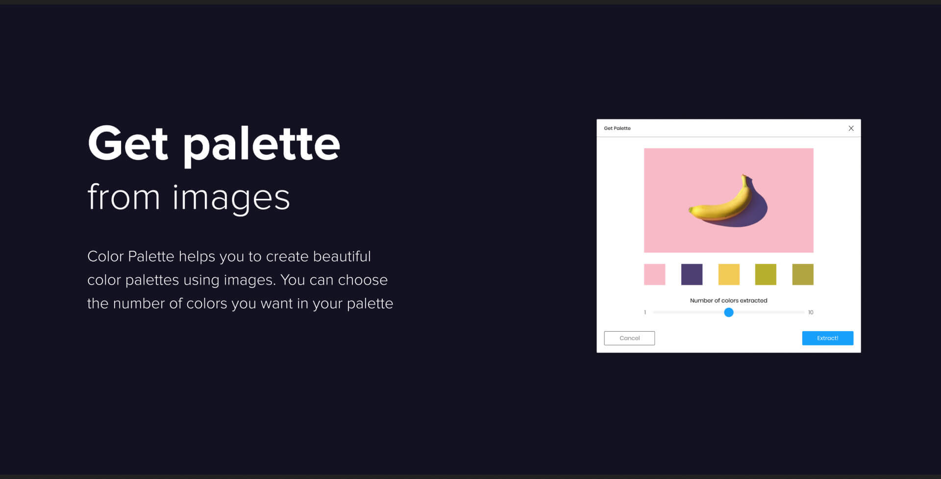 """Create Color Palettes Using Images"""