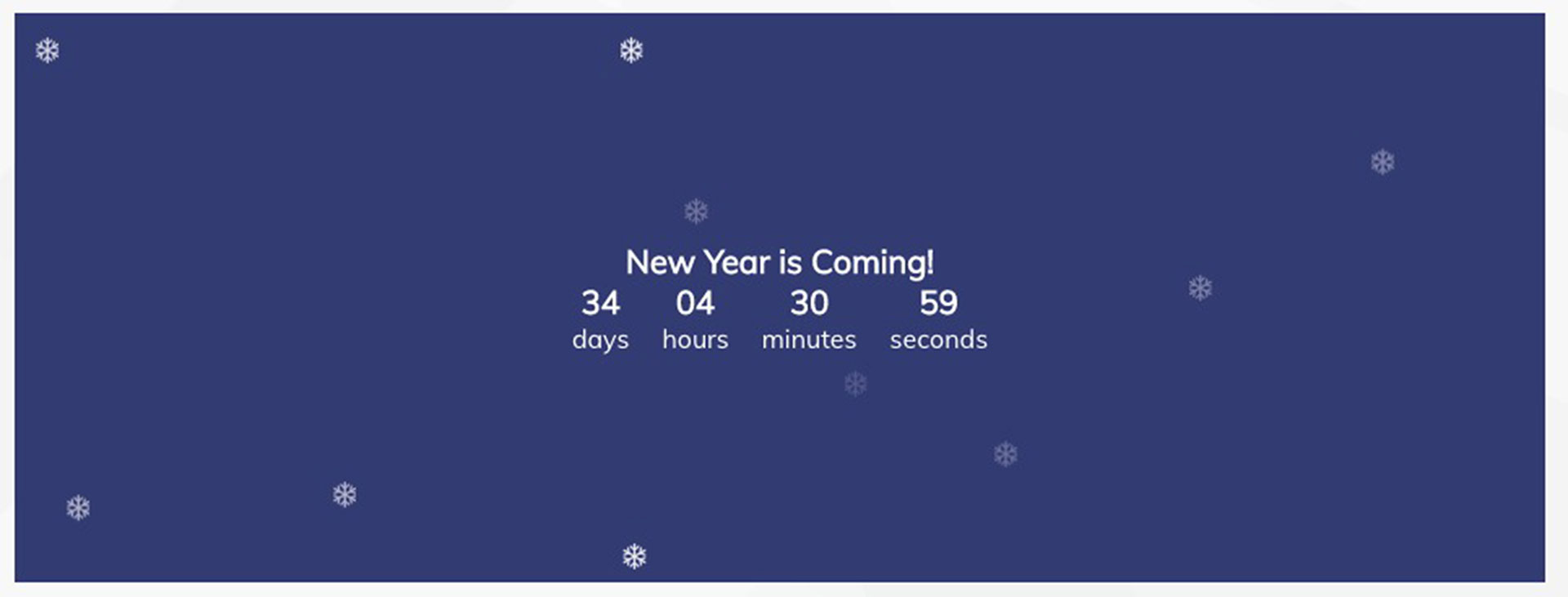 """Holiday Countdown"""